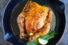 Keep it simple with this easy recipe for the best roast chicken flavored with garlic and lemon and roasted to perfection.