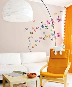 muurstickers vlinders more zw babykamer en muurstickers muurstickers ...