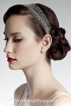 Love the vintage hair to go with a lace dress
