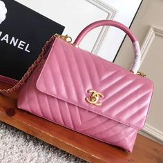 ce48b83bd348a2 Chanel Shiny Chevron Calfskin Coco Handle Small Bag Size: 28 cm Top quality original  calf leather Gold-tone hardware Tips: I would r.