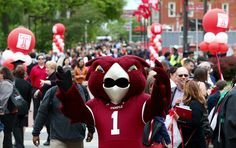 Hooter embraces the new batch of Temple Alumni after commencement
