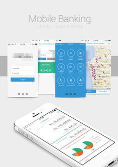 Mobile app for Banking Solutions by Jeyachanthuru Jeyarathnem, via Behance