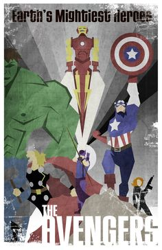 """The Avengers"" illustration."