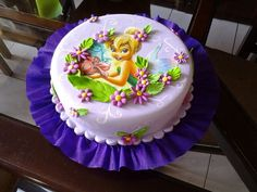 Tinkerbell birthday cake. This is simple but gorgeous