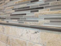 Maniscalco tile: Ash Stix, Sydney Brushed Nickel, 3 x 6 Trav Chiaro Sally's Kitchen, Kitchen Backsplash, Kitchen Design, Kitchen Ideas, The Glass Menagerie, Big Houses, Barn Wood, Home Kitchens, Tiles