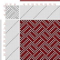 draft image: Figure 590, A Handbook of Weaves by G. H. Oelsner, 10S, 10T