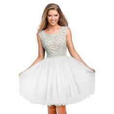 Terani Couture Embellished Prom Semi-Formal Dress