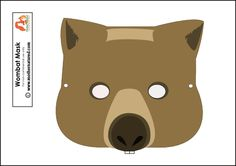Learn all about wombats and enjoy this free printable wombat mask too. Ready books, learn about marsupials but not forget to pretend to be a wombat too!