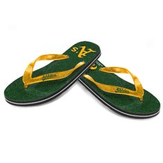 Oakland Athletics Women's Glitter Flip Flop Sandals