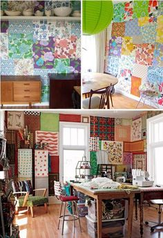 Wall Art: How To Make Lovely Patchwork Wall? - www.nicespace.me