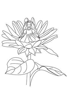 Thumbelina coloring pages for kids pinterest coloring books Disney Thumbelina Jack and the Beanstalk Coloring Pages Sleeping Beauty Coloring Pages