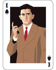 King of Spades is Special Agent Dale Cooper. By Lenike Sundström