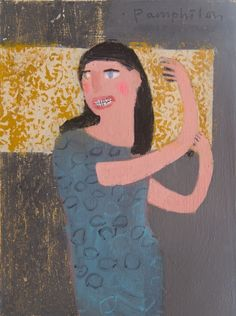 Anna in Party Mood Playing the Castanets in Lanzarote | Mixed media on wooden…