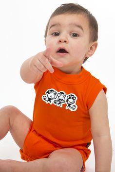 17e508b72aa Dětské body bez rukávů pro děti s potiskem 1037 NNN ZLO v barvě SIGNAL  ORANGE