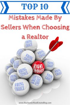 Choosing a Realtor is a vital part of whether a home sellers or not. Avoid these 10 mistakes that are commonly made by sellers when choosing a Realtor. http://www.rochesterrealestateblog.com/top-10-mistakes-made-by-sellers-when-choosing-a-realtor/ via @KyleHiscockRE #realestate #Homeselling #realtor