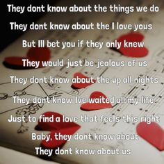 """They dont know about us <3 -- #LyricArt for """"They Don't Know About Us"""" by One Direction"""