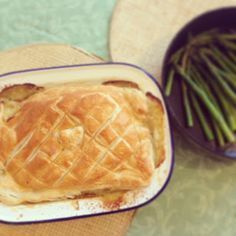 Jamie Oliver's chicken & mushroom pie Oh how i miss this with some good ol' chips hmmm