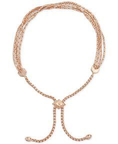d800b9e7520d Vera Bradley Rose Gold-Tone Tasseled Slider Bracelet   Reviews - Fashion  Jewelry - Jewelry   Watches - Macy s