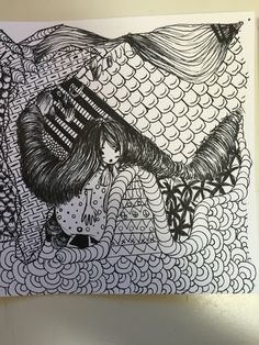 Finished Zentangle.~