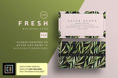 Fresh - Business Card 105 by Cooledition on @creativemarket