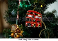 Christmass toy - Double Decker. - Stock Photo