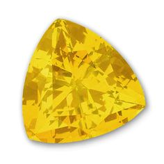 9x9mm Trillion Gem Quality Chatham-Created Cultured Yellow Sapphire Weighs 3.08-3.76 Ct.
