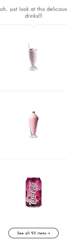 """""""oh... just look at this delicious drinks!!!"""" by annanoire ❤ liked on Polyvore featuring food, drinks, food and drink, fillers, food & drink, pink, accessories, christmas, starbucks and red fillers"""