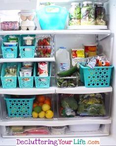 Dollar Store Refrigerator Organization #getorganized #gettingorganized #organizationideasforthehome #diyhomedecor #organizingideas #cleaninghacks #lifehacks #diyideas