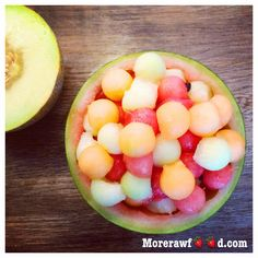 Did you had some melons lately? It's still nice and warm outside and this is the best time of. Cantaloupe, Salads, Warm, Fruit, Nice, Breakfast, Food, Morning Coffee, Essen