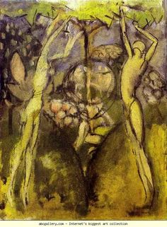 Marcel Duchamp - 'Young Girl and Man in Spring / Jeune homme et jeune fille dans le printemps' - 1911 - oil on canvas