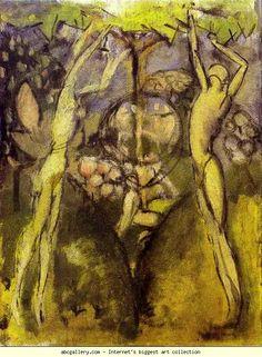 Marcel Duchamp - 'Young Girl and Man in Spring / Jeune homme et jeune fille dans le printemps' - 1911 - oil on canvas