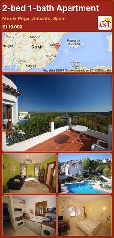 2-bed 1-bath Apartment in Monte Pego, Alicante, Spain ►€119,000 #PropertyForSaleInSpain
