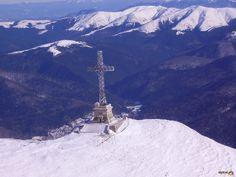 Heroes Cross on Caraiman Peak, Bucegi Mountains, Romania