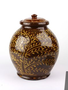 lead glazed earthenware with inlaid decoration ....english 1809.