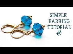 ▶ Simple earring tutorial - jewelry making - YouTube