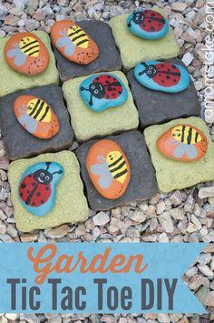 DIY Garden Tic Tac Toe Game