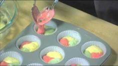 Jello Tie Dye Fruity Cupcakes