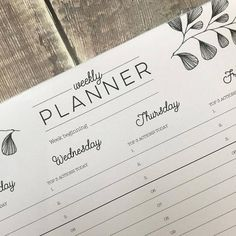 weekly planner pad floral weekly planner pad desk pad o r g a n i z e rh pinterest fr