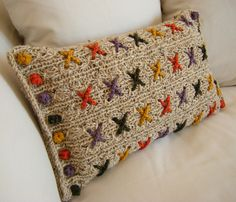 Autumn Berry Kisses Reversible Knitted Cushion Covercover by Hand Knitted Things, via Flickr