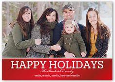 Holiday Shine 5x7 Photo Card | Christmas Cards