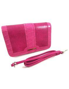 Buxton Hot Pink Moroccan Faux Croc Mini Bag