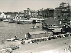 Circular Quay in Sydney in 1955. •State Records of NSW•