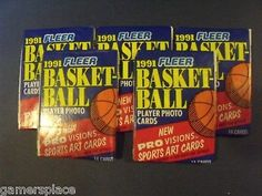 5X Fleer 1991 Basketball Player Photo Card Packs