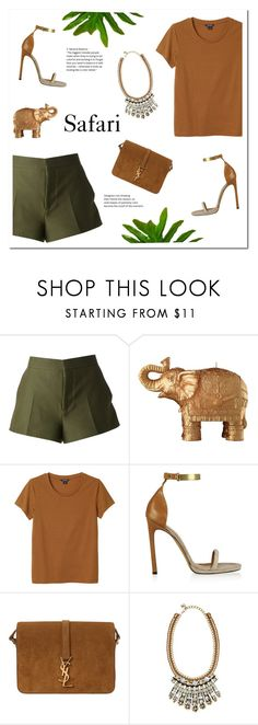 """""""SAFARI"""" by uniqueimperfection ❤ liked on Polyvore featuring Marni, Mario Luca Giusti, Monki, Isabel Marant, Yves Saint Laurent, Nocturne, Summer, safari and uniqueimperfection"""