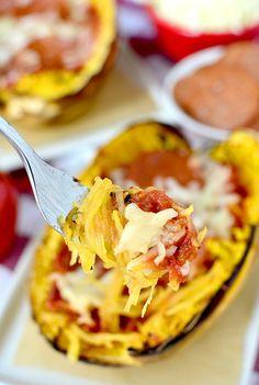 Pizza Spaghetti Squash | iowagirleats.com