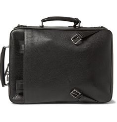 Dolce & Gabbana - Grained-Leather Briefcase-Backpack Hybrid