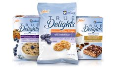 Packaging for Quaker's True Delights product line