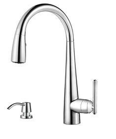 View the Pfister GT529-SM Lita 3 Function Pullout Spray High Arc Kitchen Faucet with AccuDock Sprayhead, Flex-Line Supply Lines and Pfast Connect Technologies at FaucetDirect.com.