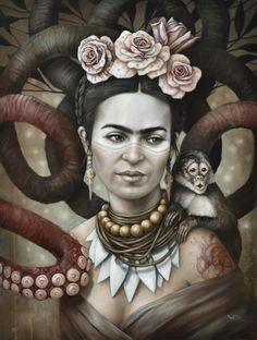 Hommage à Frida Kahlo Imprimer 3 Art par Sophie Wilkins | Society6