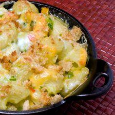 green chili macaroni from the Roaring Fork in Scottsdale, AZ.  yummiest mac & cheese i've ever had.  :P